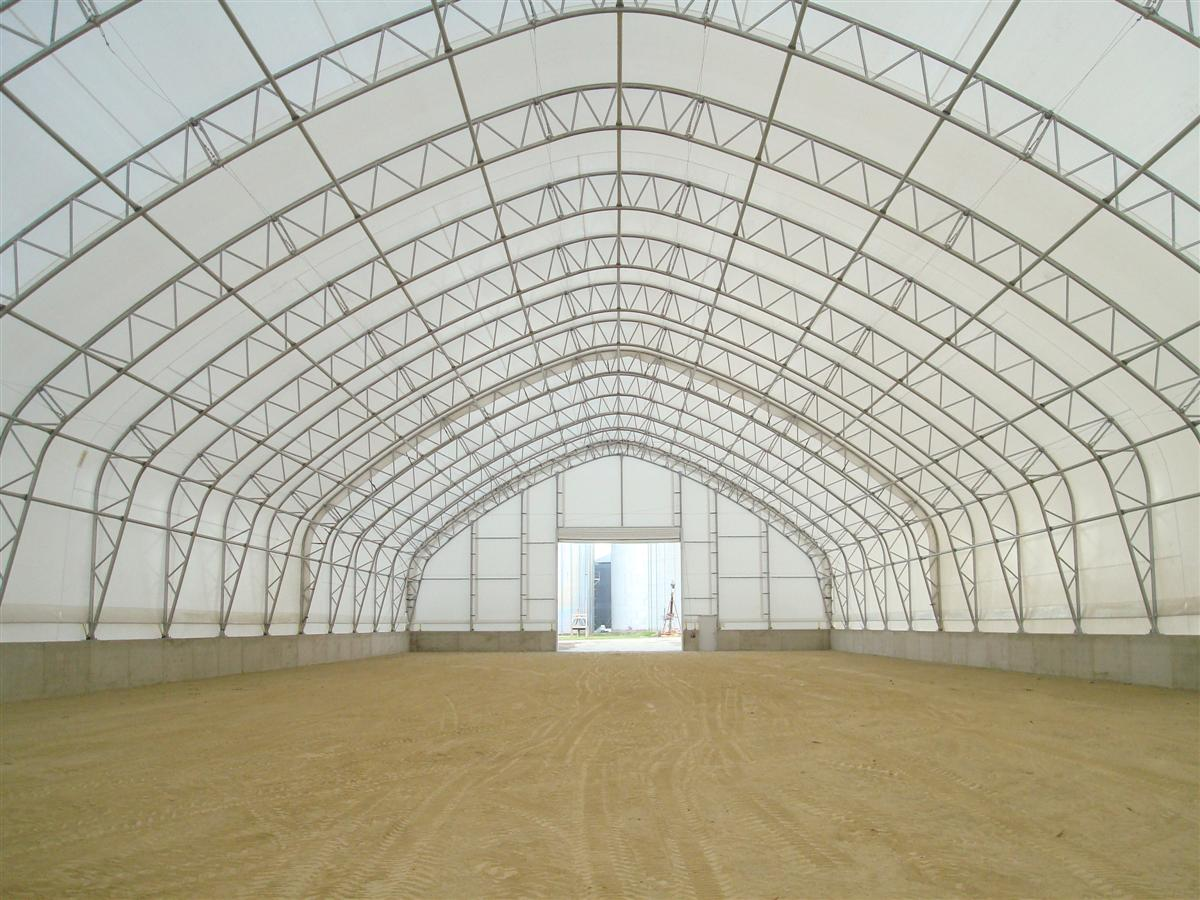 large polygonal fabric building toro shelters