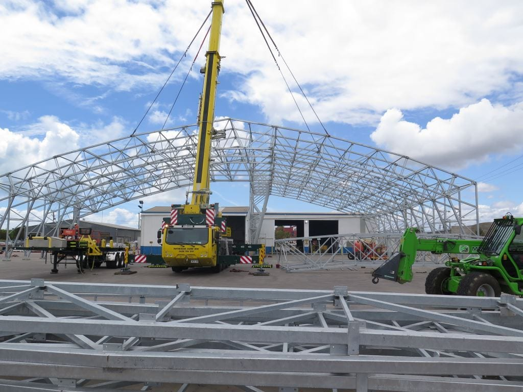professional fabric structure installation toro shelters