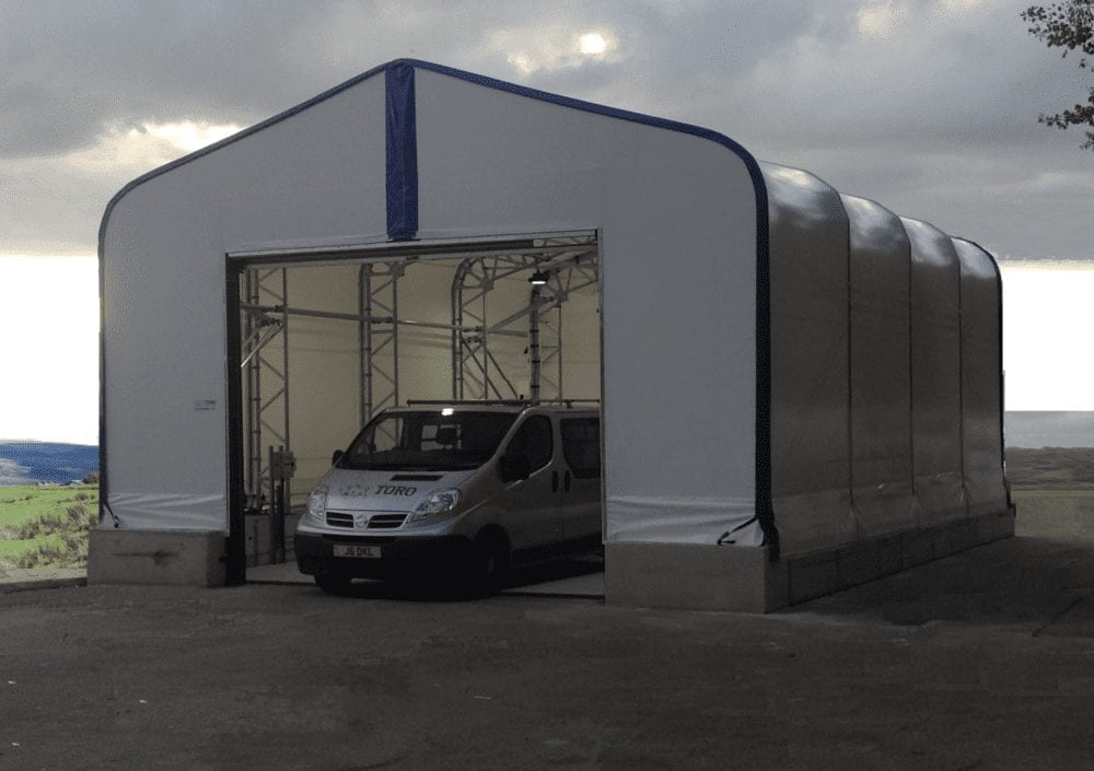 small temporary structure storage unit toro shelters