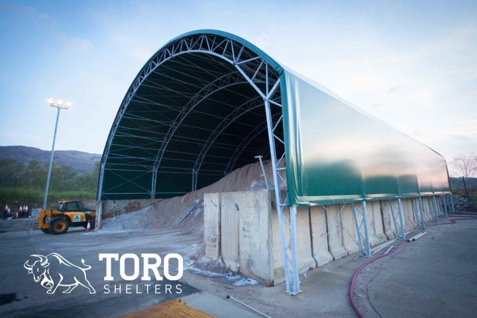 arched salt barn toro shelters