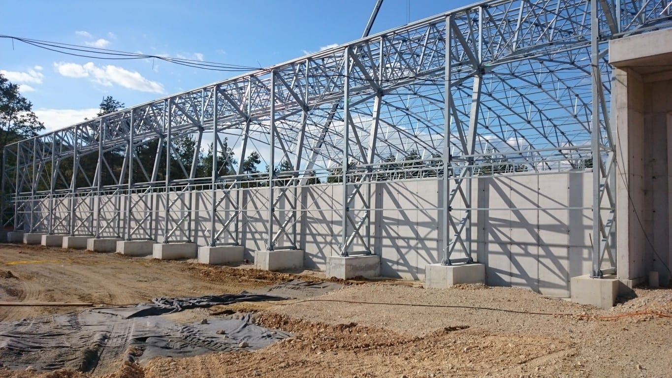 bulk storage steel frame installation toro shelters