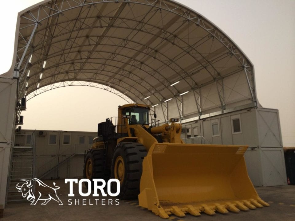 container mounted mining maintenance west africa toro shelters