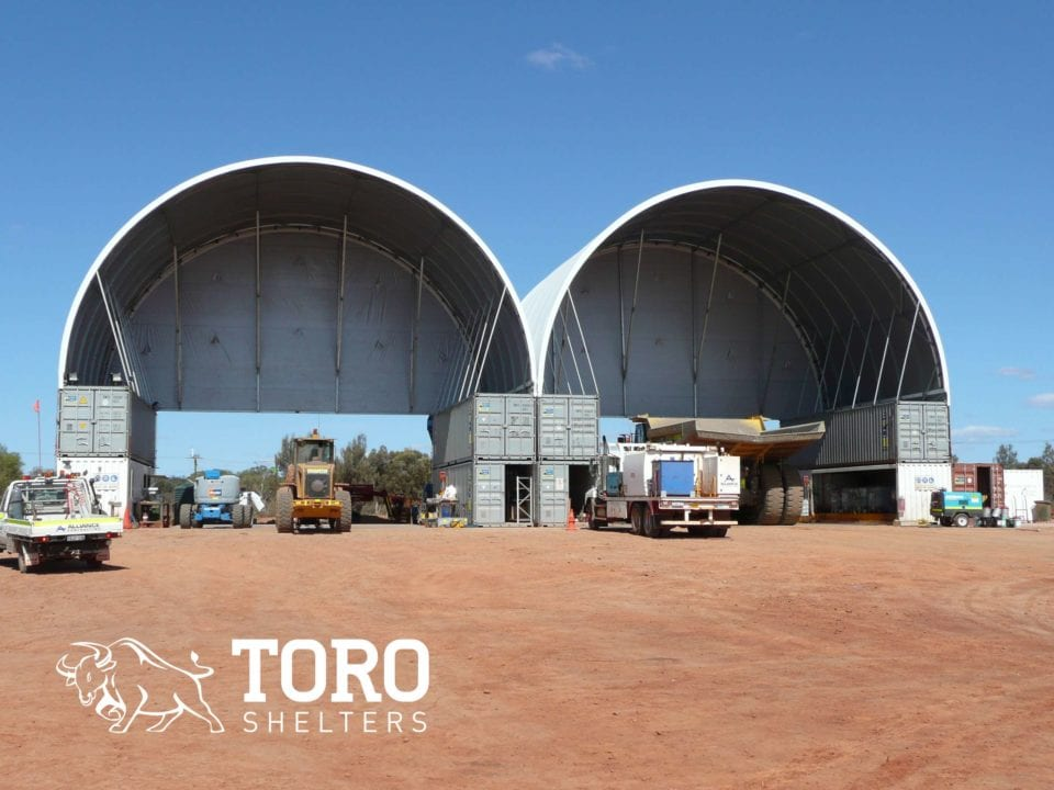 container mounted mining storage toro shelters