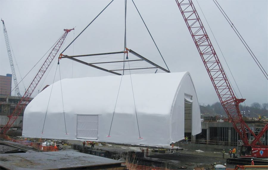 crane liftable fabric marine structures toro shelters