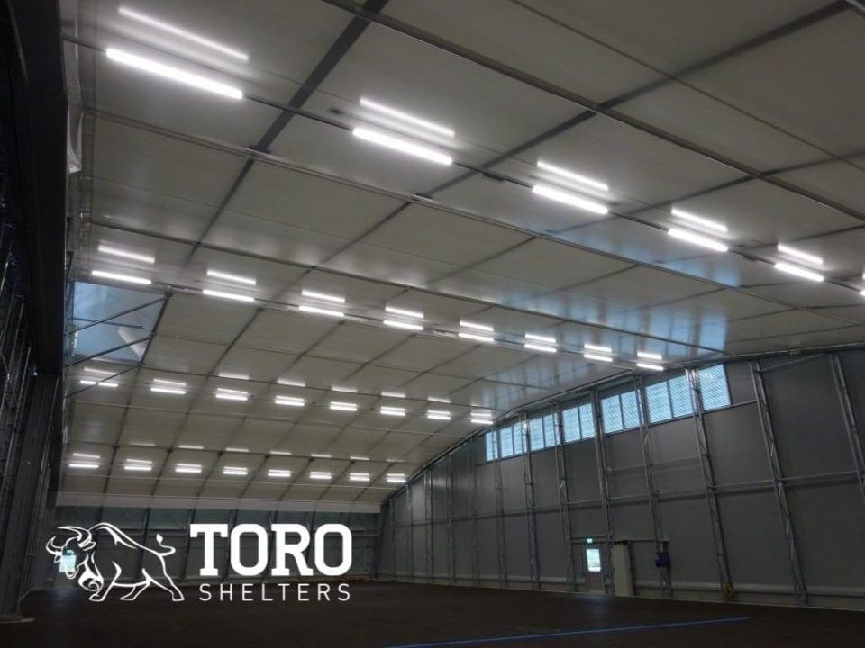 flughafen hvac and interior lighting toro shelters