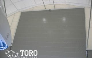 large aircraft fabric building doors toro shelters