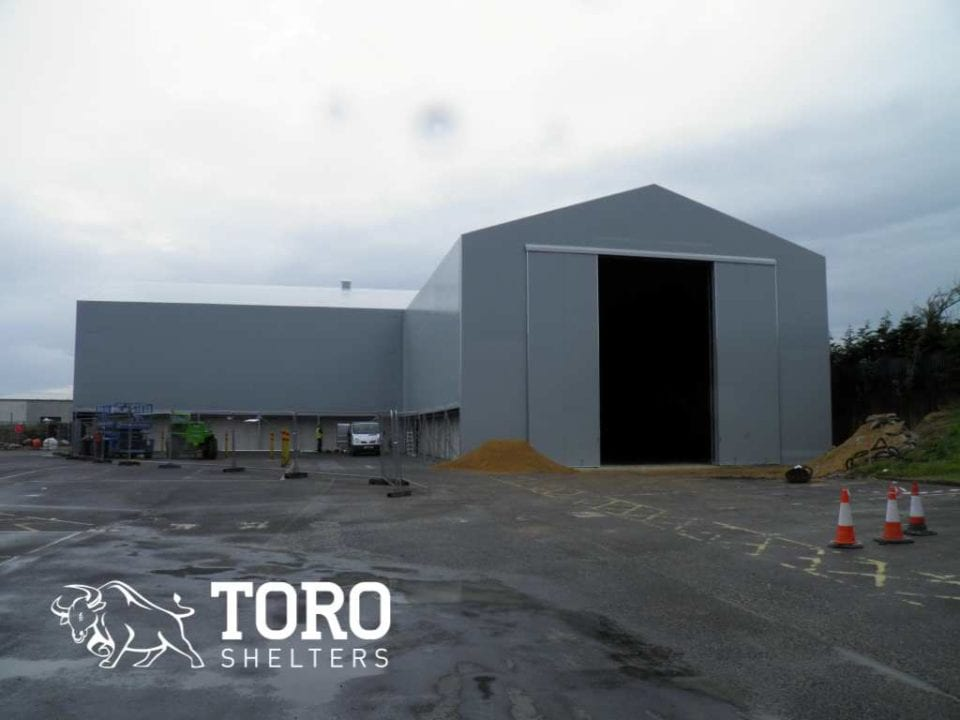 large l shaped storage barn toro shelters
