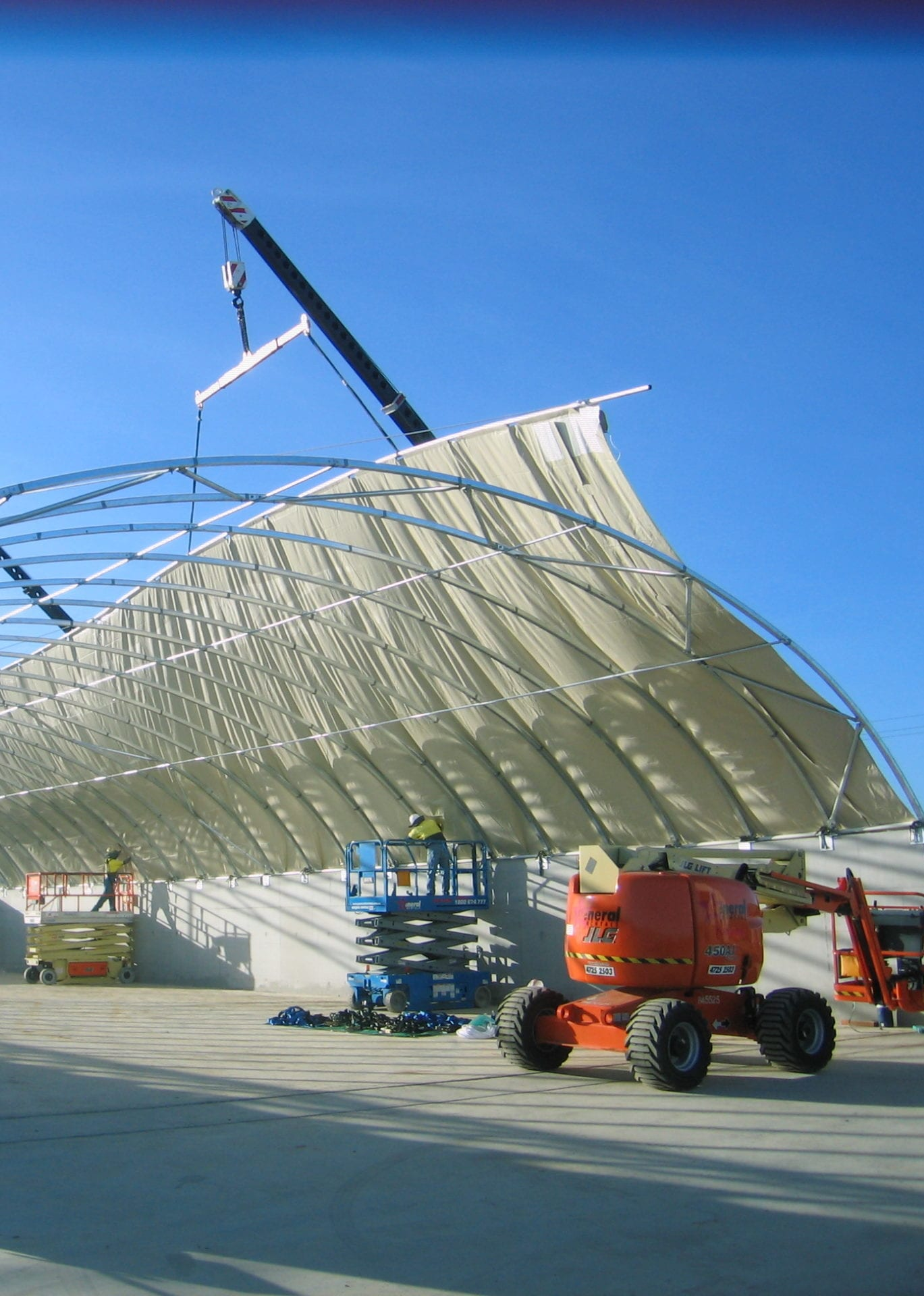 lifting cover into place toro shelters
