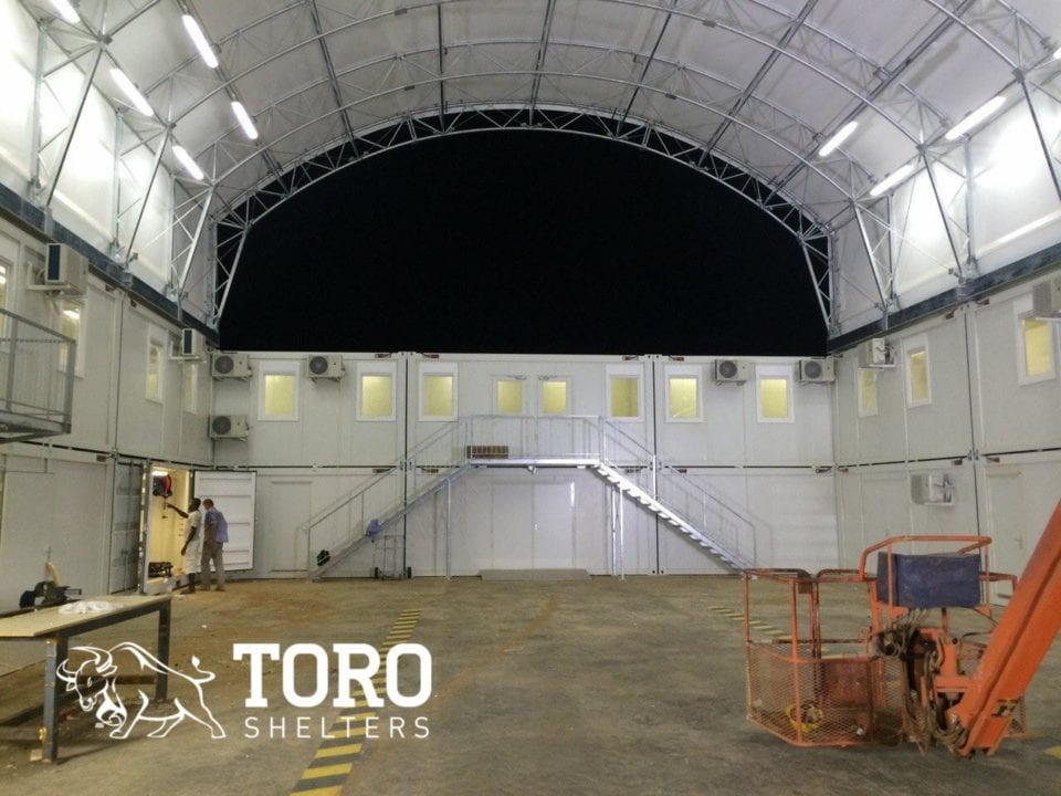 mine truck maintenance at night toro shelters