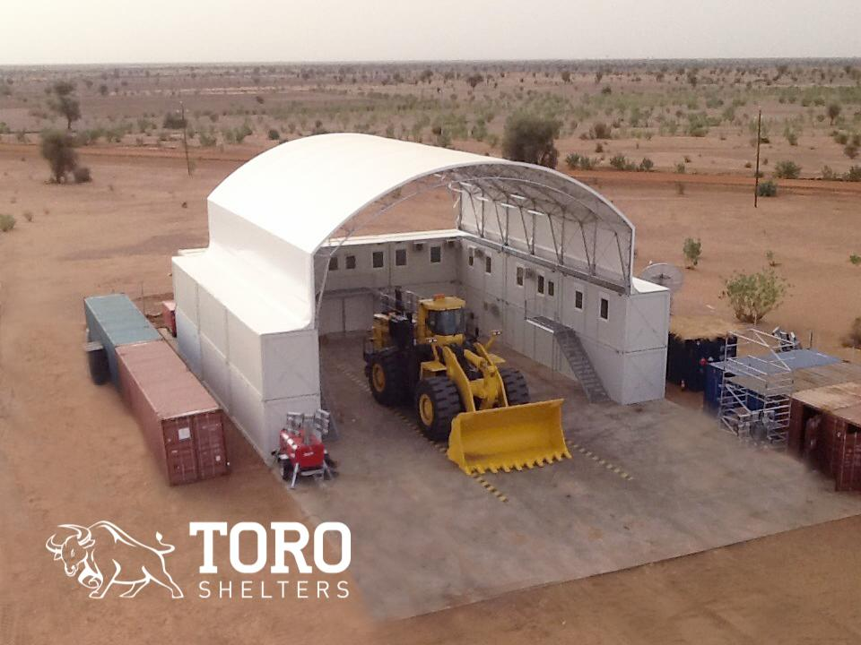 mining maintenance facility toro shelters