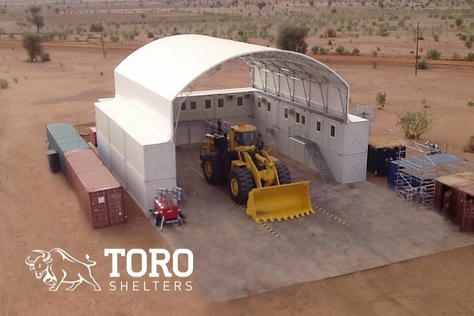 mining vehicle maintenance building toro shelters