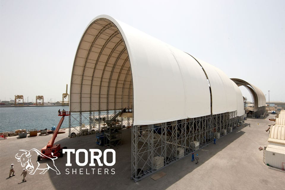 portable building tensile structures mobile foundation toro shelters