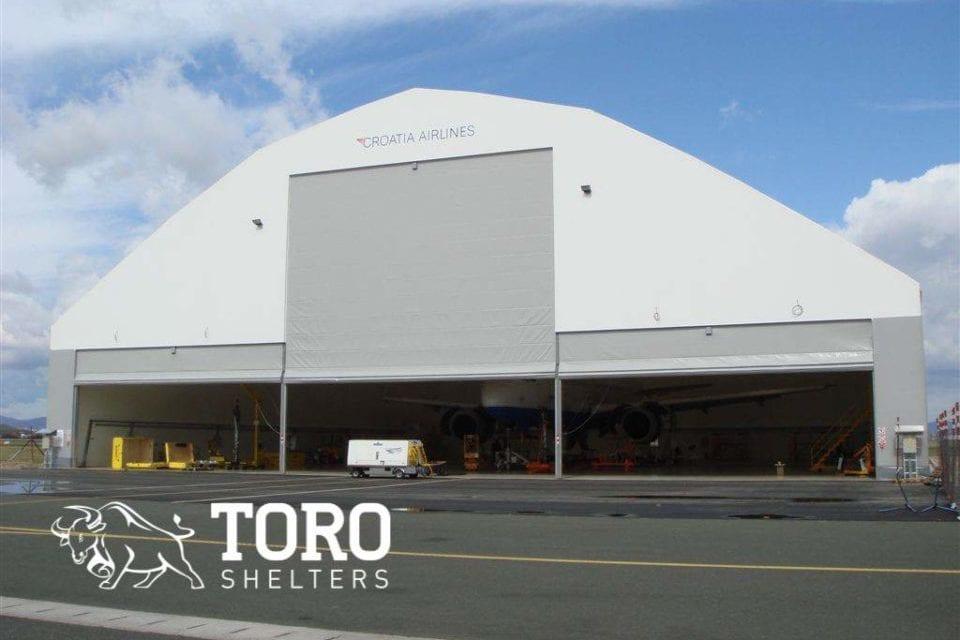 open hangar doors toro shelters