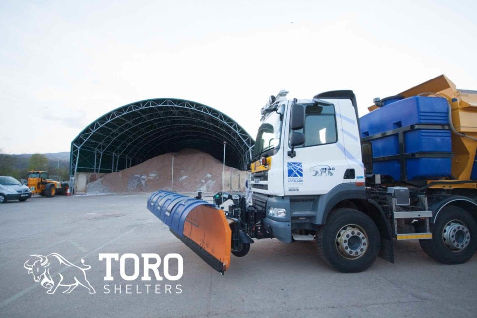 salt barn storage and gritter toro shelters