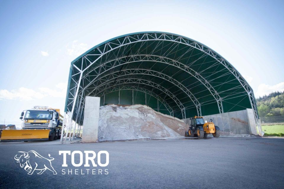 salt storage curved roof toro shelters