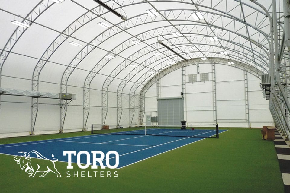 Portable Buildings Temporary & Permanent sports hall tennis toro shelters