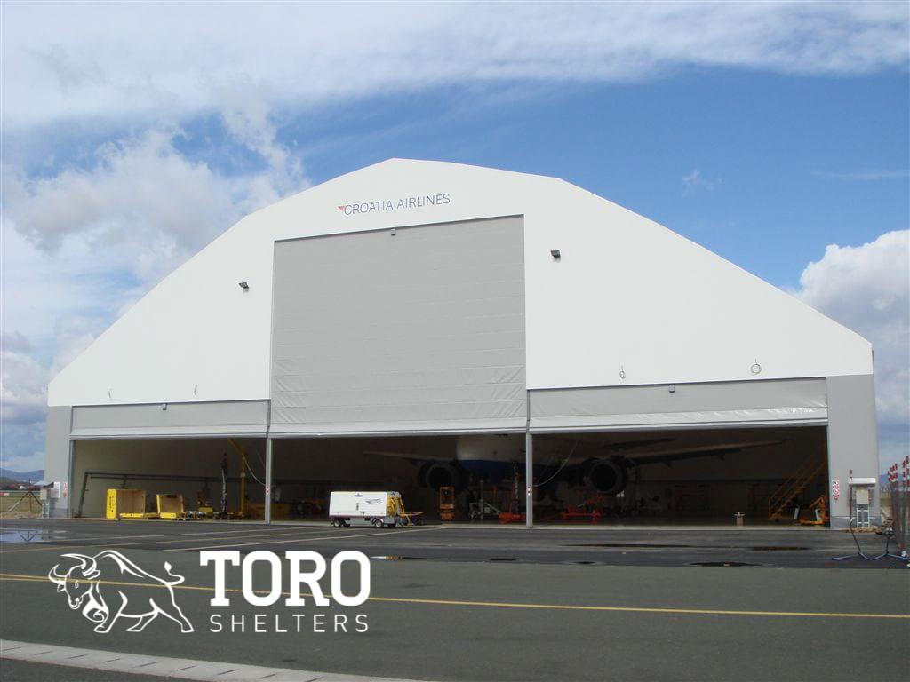 widespan hangar doors hvac toro shelters